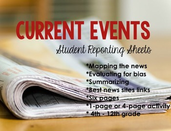 Current Events Student Reporting Sheets