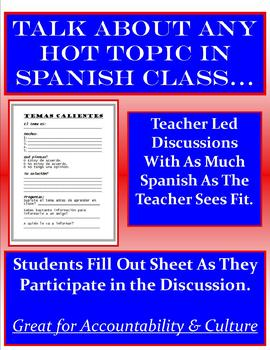 Current Events Student Sheets - SPANISH