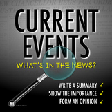 CURRENT EVENTS: News Article Summary & Analysis Template | Distance Learning
