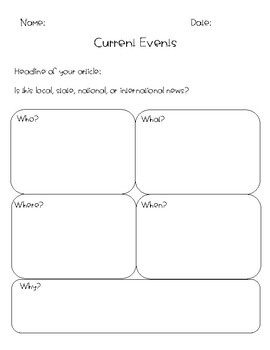 Current Events Template