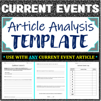 Current Events Worksheet by Lessons by Lieberman | TpT