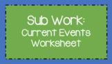 Current Events Worksheet
