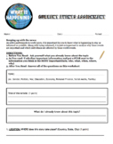 Current Events Worksheet Activity