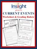 Current Events Worksheet & Grading Rubric