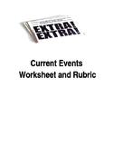 Current Events Worksheet Rubric