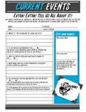 Current Events Worksheet for Middle & High School - FREE