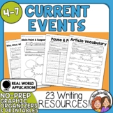Current Events Print and Easel Activities Use with Any Article or Post