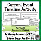 Current Events and World Geography Review Timeline Activit