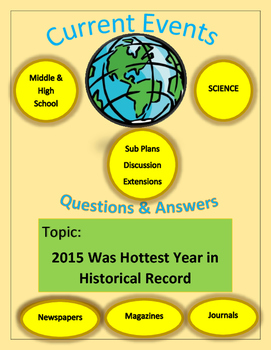 Current Events Science,Captain Planet:2015 Was Hottest Year in Historical Record