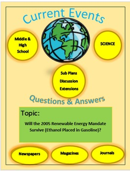Current Events Science:Will the 2005 Renewable Energy Mandate Survive?