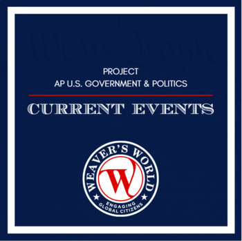 AP Gov Current Events PowerPoint Presentation Project - Semester Long