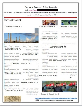 Current Events of 2016-2017 Break In Activity