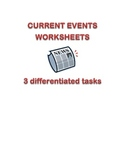 Current Events worksheets and graphic organizer
