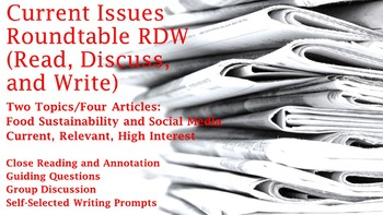 Current Issues Roundtable: Read, Discuss, Write - 2 Full Lessons