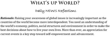 Current Events: News Daily Reflection Prompts
