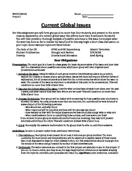 Current World Issues Project Pack!