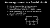 Current and Potential Difference in series and parallel circuits x 2 lessons