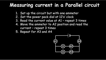 Current and Potential Difference in series and parallel ci