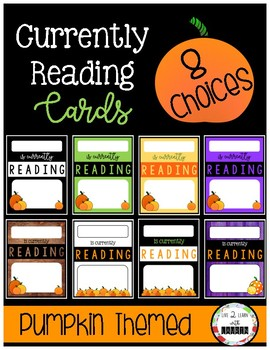 Currently Reading Cards (8 Choices) *Fall Themed