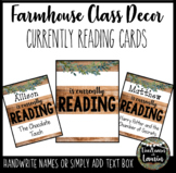 Currently Reading Cards (Farmhouse Theme)