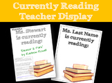 Currently Reading Teacher Display