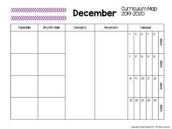 Curriculm Map Template for Music (Editable)