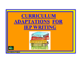Curriculum Adaptations for IEP Writing