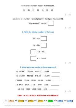 Math Curriculum Assessments