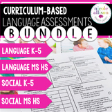 Curriculum-Based Language Assessments {BUNDLE}