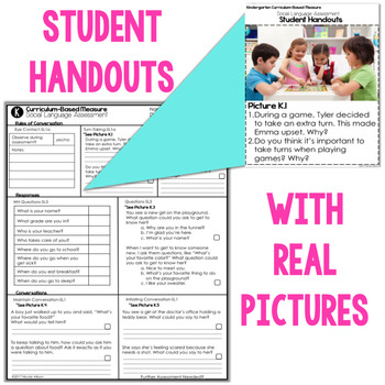 Curriculum Based Social Language Assessments for Grades K-5 Aligned with CCSS