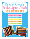 Curriculum Binder Labels
