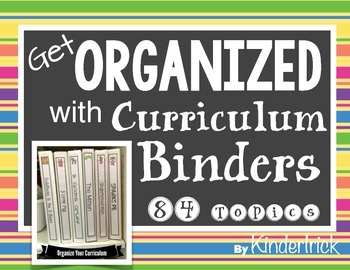 Curriculum Binders and Spines