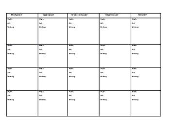 Curriculum Calendar