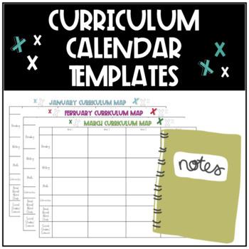 Curriculum Calendar Mapping Templates
