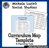 Curriculum Calendar or Map Template