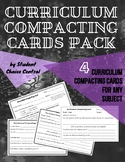 Curriculum Compacting Cards Pack - Differentiation / Gifted