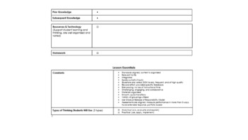 Curriculum Guide and Lesson Plan Template