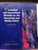 Curriculum & Instructional Methods for the Elementary and Middle School