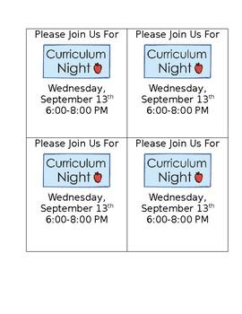 Curriculum Invite