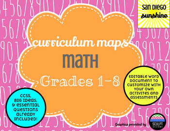 Curriculum Map Common Core Math Grades 1 to 8