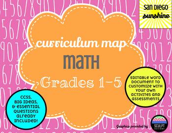 Curriculum Map Common Core Math Grades 12345