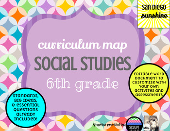 Curriculum Map Template Editable Teaching Resources Teachers Pay