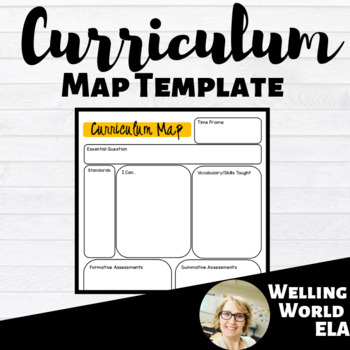 Curriculum Mapping Template Worksheets & Teaching Resources | TpT