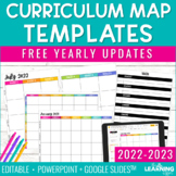 Curriculum Map Template Editable | Pacing Guide