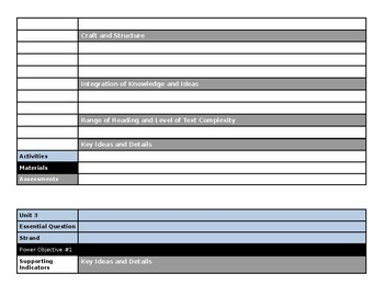 Curriculum Map and Pacing Guide Templates (Elem)