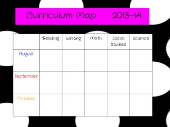 Curriculum Map for 2017-2018