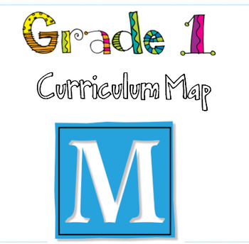 Editable Curriculum Map for Grade One Ontario Curriculum (spiraled)