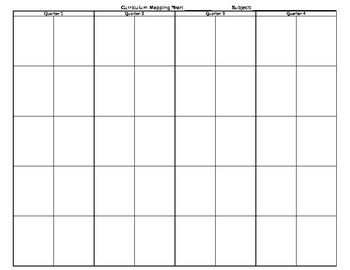 Curriculum Mapping at a Glance- Excel Version