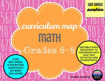 Curriculum Maps Common Core Math Grades 6,7,8