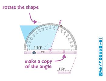 Curriculum Math Tools - Protractor Tool - NOTEBOOK Gr. PK-8